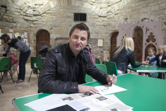 TV personality, George Clarke, participated in the activities at Durham Cathedral