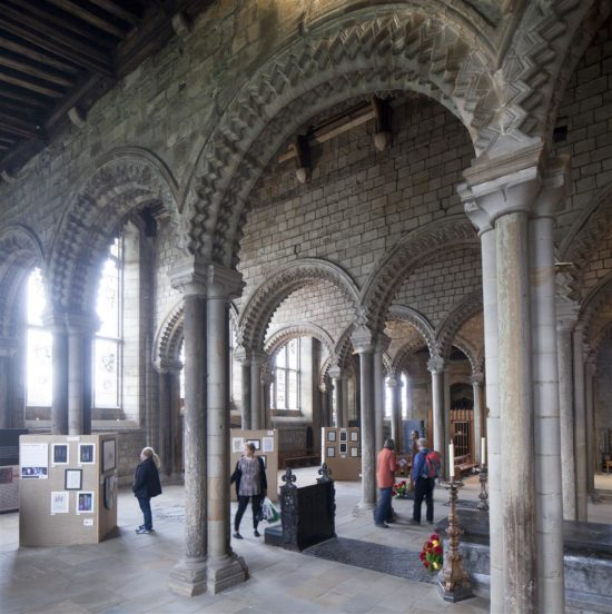 The exhibition took place in the Galilee Chapel