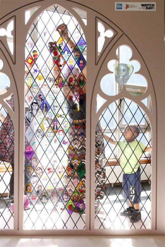 Watch Day 2012 gave youngsters the opportunity to be a stained glass designer for the day