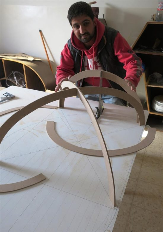 Assembling a model of a groined vault